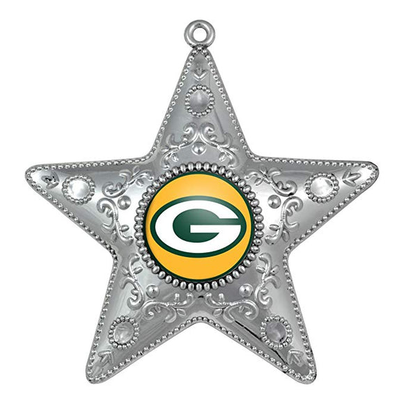 Green Bay Packers Silver Star Ornament - TGC Toys and Gifts