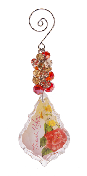 Ganz Multicolored Inspirational Glass Keepsake Ornament - Thank You - TGC Toys and Gifts