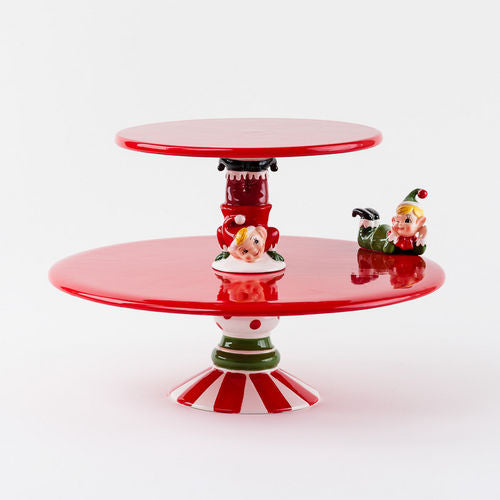 One Hundred 80 Degrees Elf Tiered Pedestal Cake Plate-TGC Toys and Gifts
