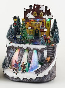Animated Holiday House with Rotating Tree Scene - TGC Toys and Gifts