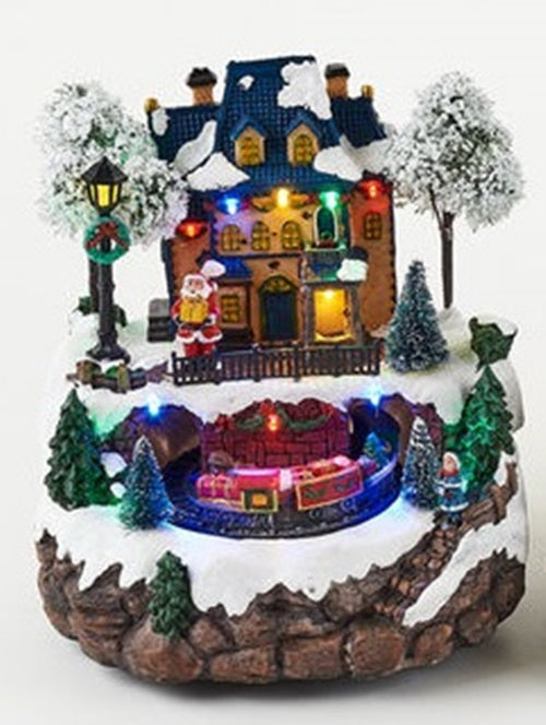 Animated Hoilday House with Rotating Train Scene - TGC Toys and Gifts