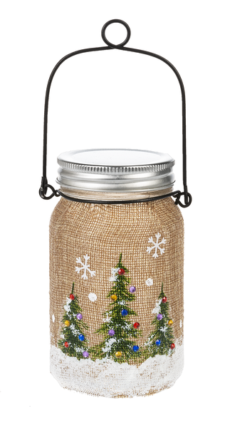 Ganz Light Up Christmas Tree Mason Jar - 5.75 inches - TGC Toys and Gifts