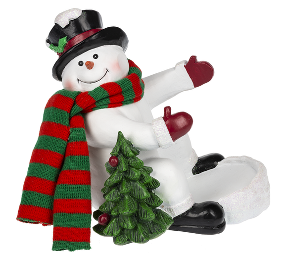 Ganz Christmas Tree Snowman Bottle Holder - 7 inches - TGC Toys and Gifts