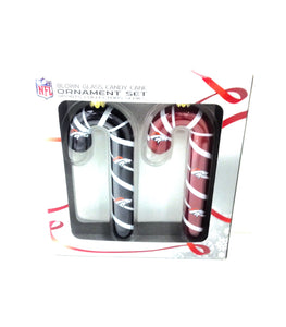 Denver Broncos Blown Glass Candy Cane Ornament Set - TGC Toys and Gifts