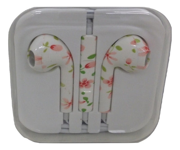 Floral Patterned Decorative Earbuds - TGC Toys and Gifts