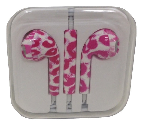 Pink Swirls Patterned Decorative Earbuds - TGC Toys and Gifts