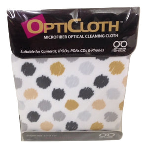 Optimum Optical Circles Design OptiCloth Microfiber Optical Cleaning Cloth - TGC Toys and Gifts