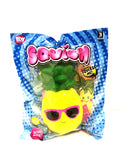 Squishy Pineapple with Pink Glasses Slow Rising Squishy Toy