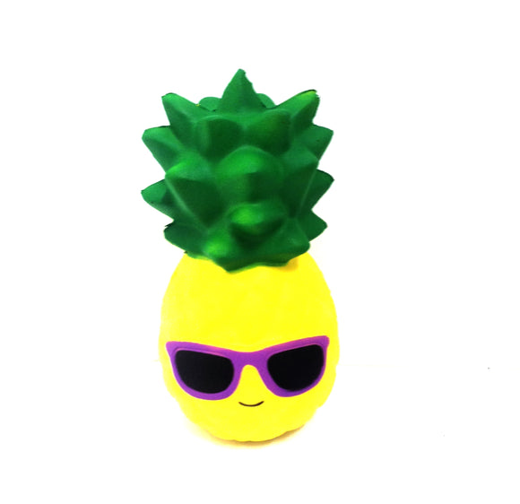 Squishy Pineapple with Purple Glasses Slow Rising Squishy Toy - TGC Toys and Gifts