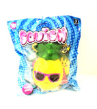 Squishy Pineapple with Purple Glasses Slow Rising Squishy Toy