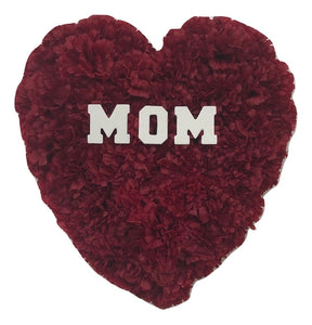 Personalized Silk Carnation Flower MOM Love Heart, Wall Decor, Home Decor, Mothers Day
