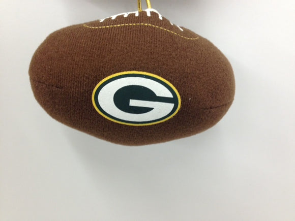 Green Bay Packers Team Plush Football Ornament - TGC Toys and Gifts