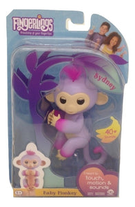 Fingerlings Two Tone Baby Monkey Sydney Interactive Toy-TGC Toys and Gifts