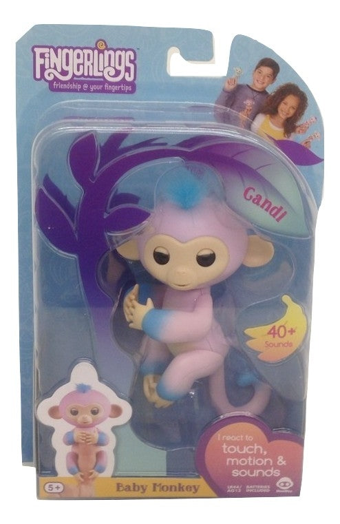 Fingerlings Two Tone Baby Monkey Candi Interactive Toy-TGC Toys and Gifts