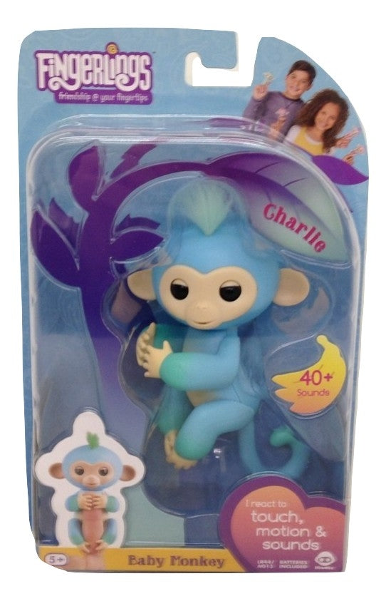 Fingerlings Two Tone Baby Monkey Charlie Interactive Toy-TGC Toys and Gifts