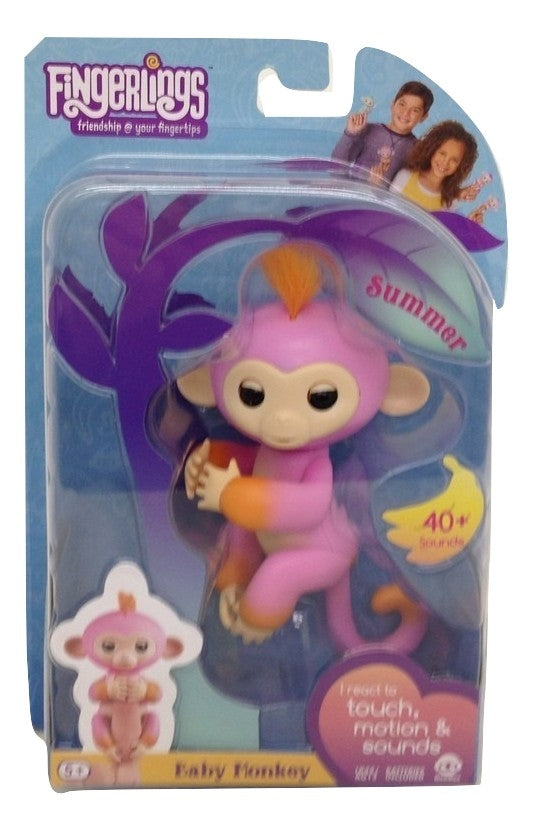 Fingerlings Two Tone Baby Monkey Summer Interactive Toy-TGC Toys and Gifts