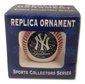 MLB NY Yankees Mini Replica Baseball Ornament - TGC Toys and Gifts