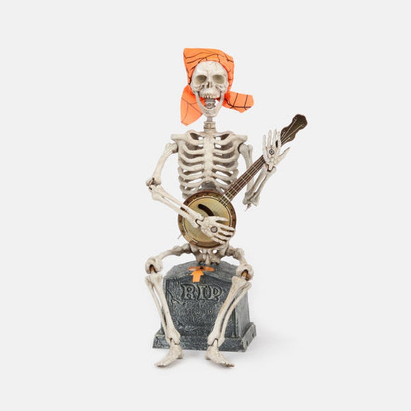 One Hundred 80 Degrees Halloween Animated Pickin my Bones Skeleton Figure - TGC Toys and Gifts