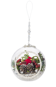 "Ganz Kissing Krystals Decorative Hanging Cardinal Terrarium Ornament 4"" - TGC Toys and Gifts"