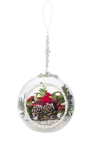 Ganz Kissing Krystals Decorative Hanging Cardinal Terrarium Ornament 4
