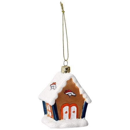 Denver Broncos Gingerbread House Ornament - TGC Toys and Gifts
