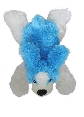 National Toy Blue & White Fluffy Dog Plush Stuffed Animal - 10