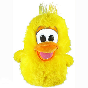 Yellow Furry Duckling Brightly Colored Plush Stuffed Animal - TGC Toys and Gifts