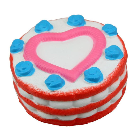 Squishy Strawberry Cake with Pink Heart Slow Rising Scented Squishy Toy-TGC Toys and Gifts