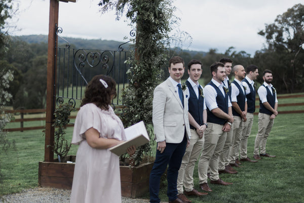 Chi & Alex's Garden Wedding | Men's Wedding Suits