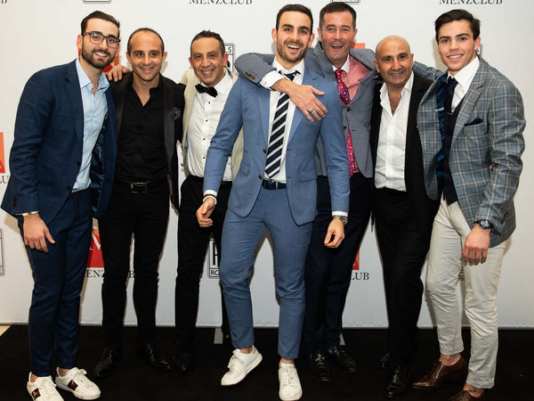 Launching Spring/Summer 2018 with Rolls Royce. Kristian Scuderi, Mark Scuderi, Joe Scuderi, Matthew Scuderi, Chris Hope, John Scuderi and Luke Scuderi