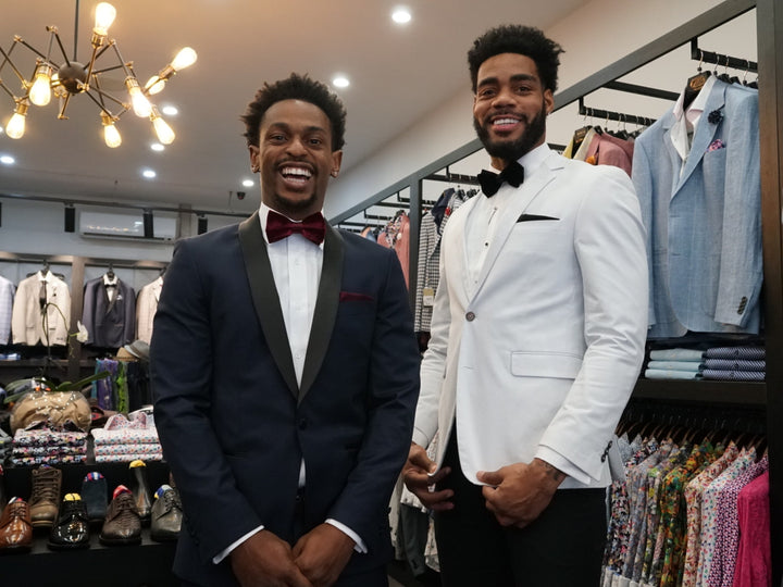 Melbourne United's Casper Ware & DJ Kennedy Suit Up for NBL MVP Gala