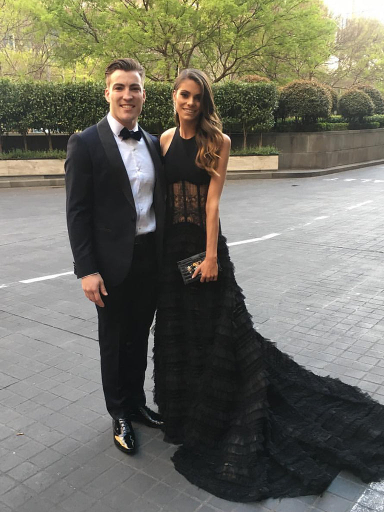 Jack Viney and Charlotte - Brownlow Medal Red Carpet 2017