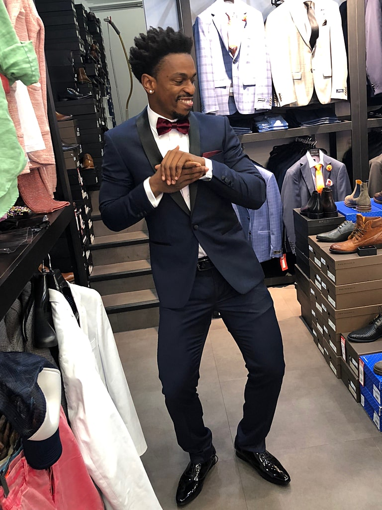 Casper Ware Suit Shopping for NBL MVP Gala