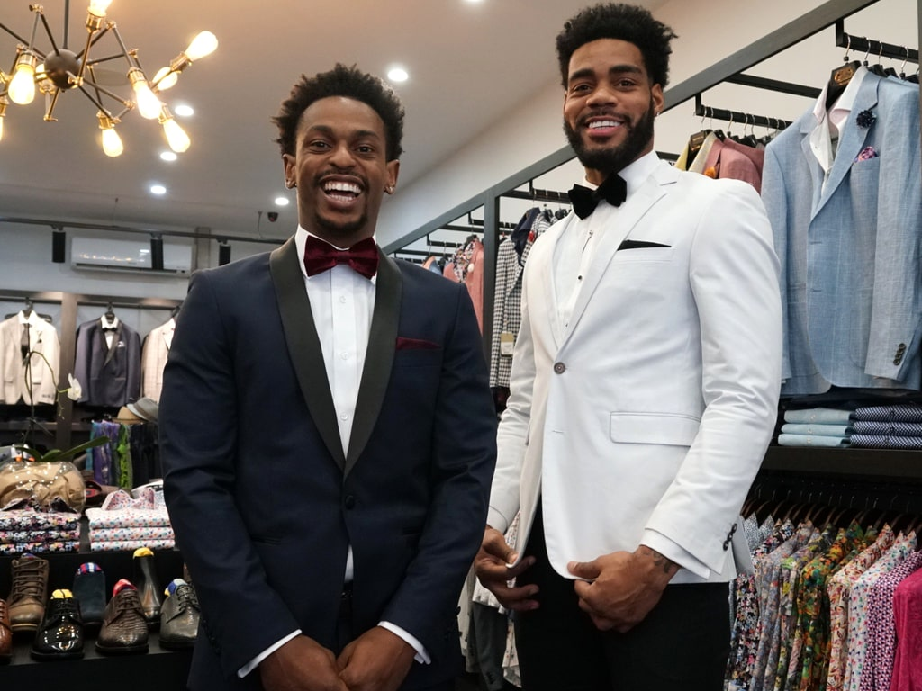 Melbourne United's Casper Ware & DJ Kennedy Suit Up