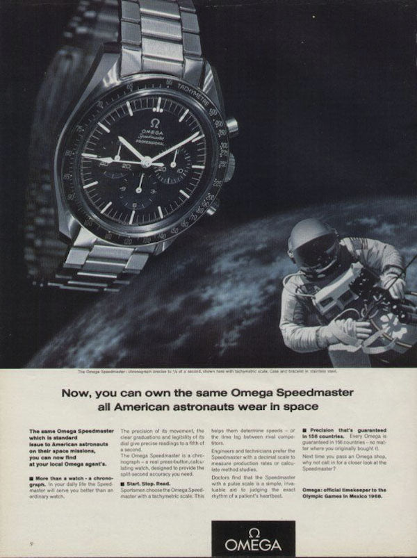Omega Speedmaster Moon Landing Advertisment