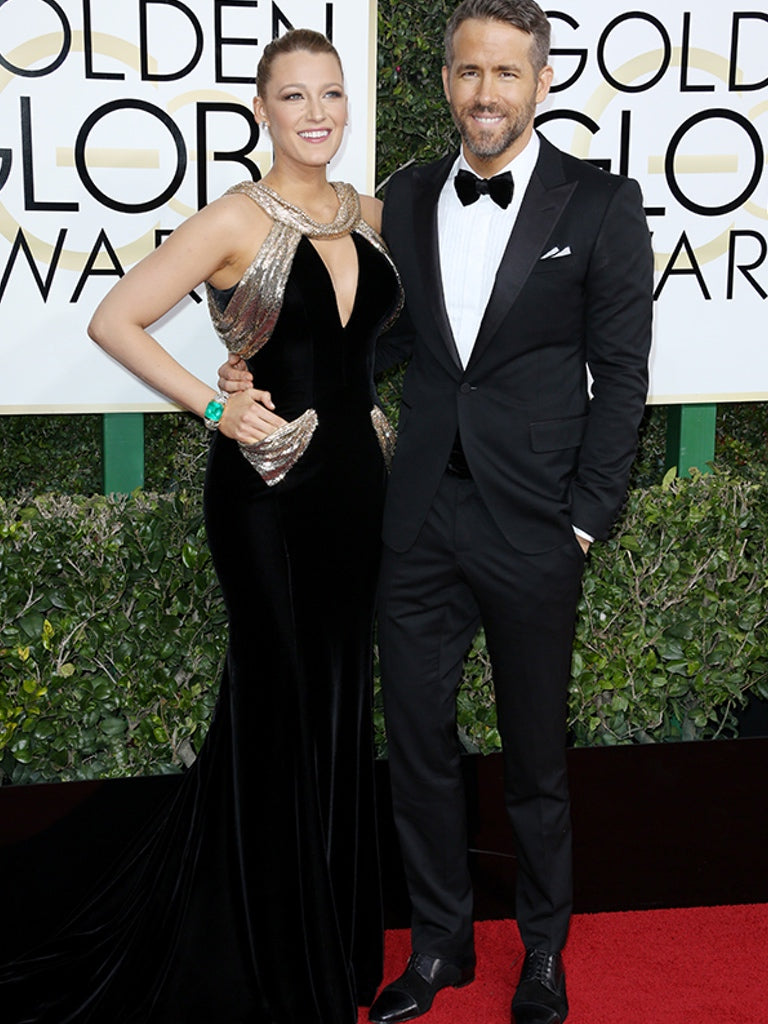 Blake Lively and Ryan Reynolds - Golden Globes 2017