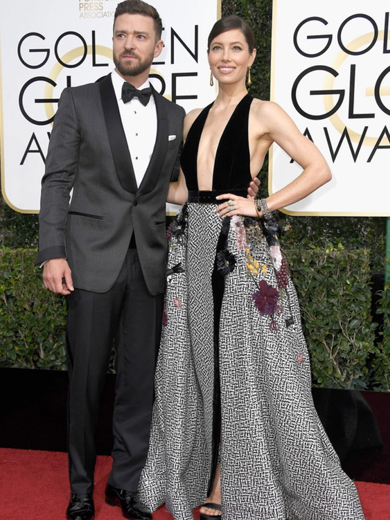 Justin Timberlake and Jessica Biel - Golden Globes 2017