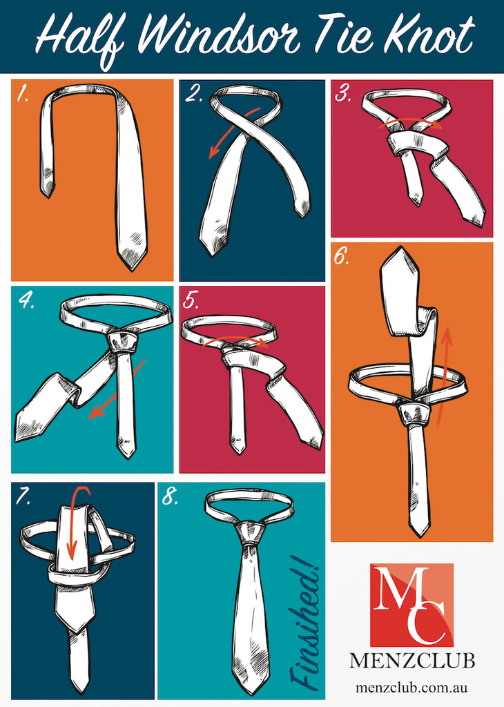 How to Tie A Half Windsor Knot | Men's Clothing Online