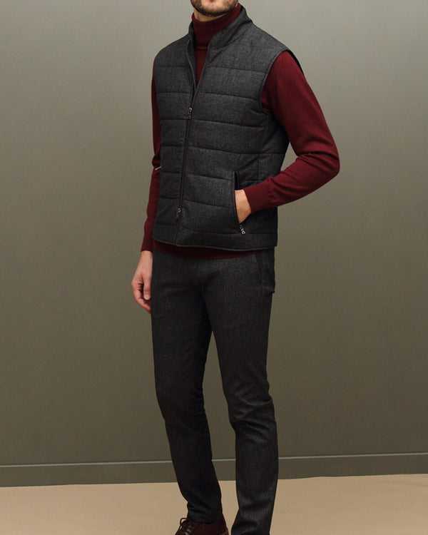 Padded Gilet with Contrast Details |  Gilet - Menzclub
