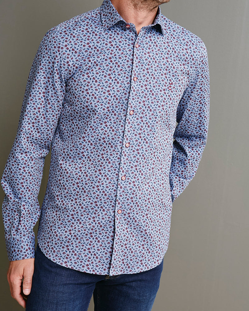Brushed Cotton Floral Shirt |  Casual Shirts - Menzclub