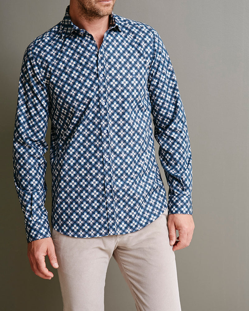 Cotton Shirt with Floral Print |  Casual Shirts - Menzclub