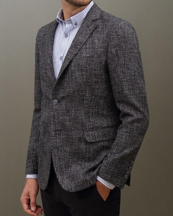 Cotton Mottled Soft Blazer |  Blazers - Menzclub
