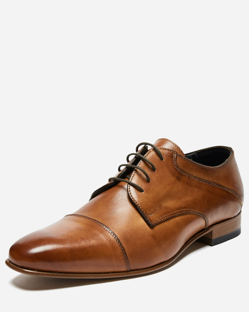Tan Derby Lace Up |  Lace Up Shoes - Menzclub