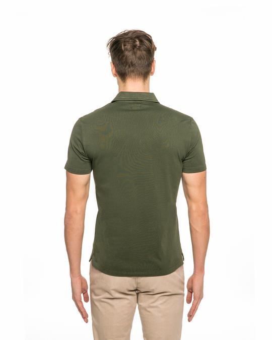 Army Green Polo Shirt for Men