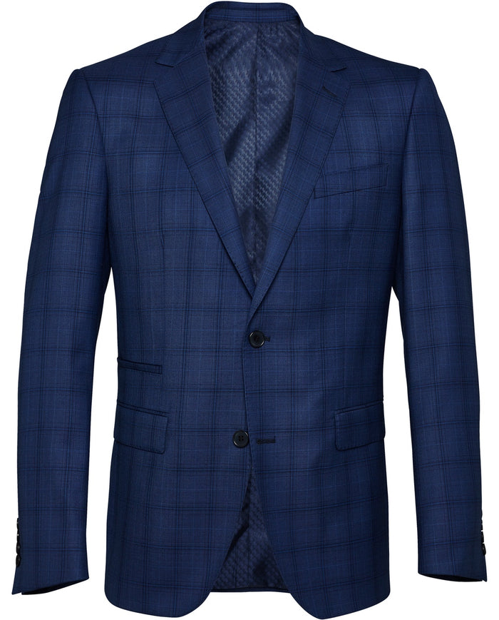 Men's Windowpane Check Suit