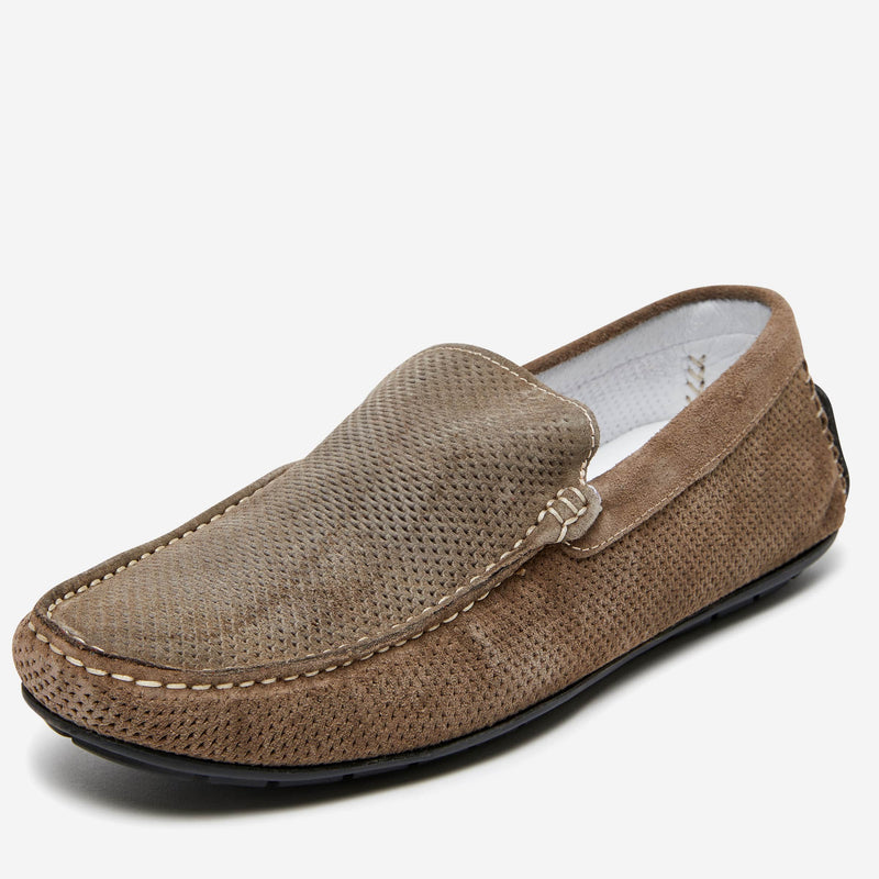 Acri Woven Leather Driver | Men's Driving Shoes Online