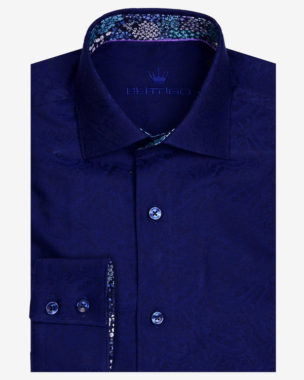 Bertigo Shirt - Barda Navy | Men's Shirts Online