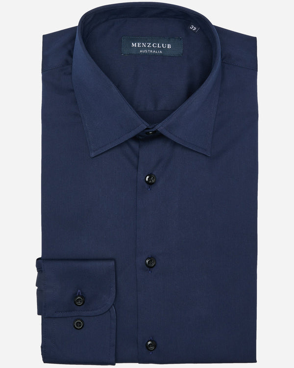 Beck Navy Shirt | Men's Dress Shirts