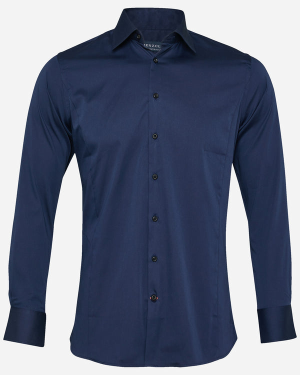 Beak Navy Dress Shirt | Men's Shirts Online - Menzclub