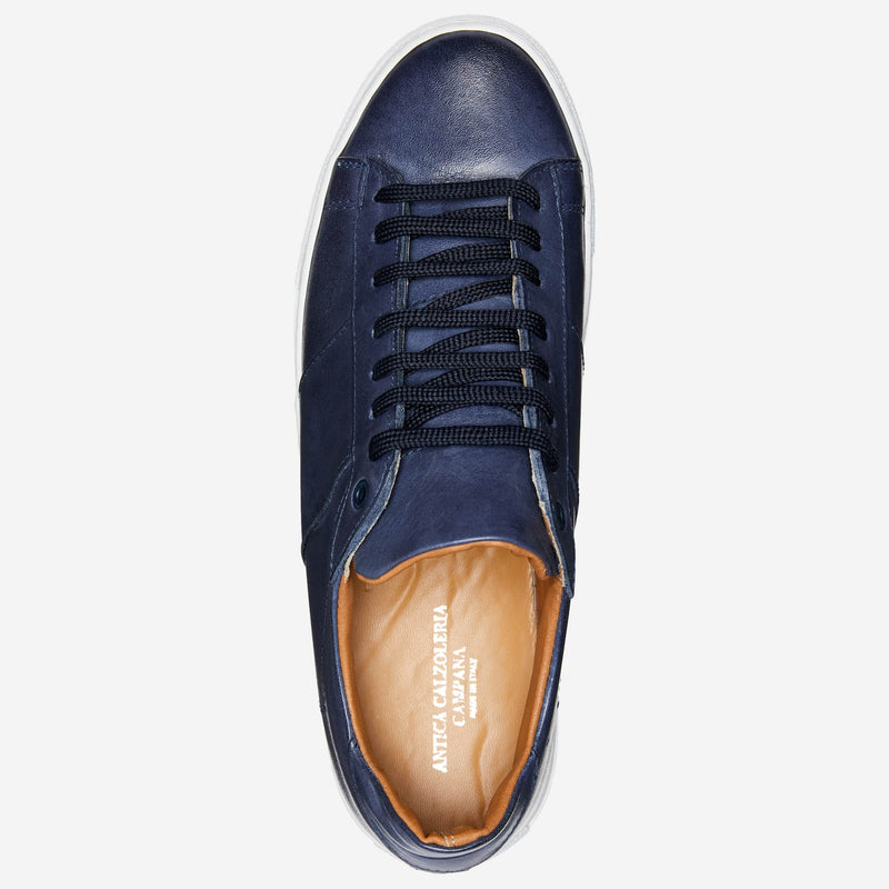 Navy Leather Sneakers Online